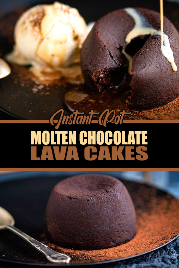 Molten chocolate lava cakes