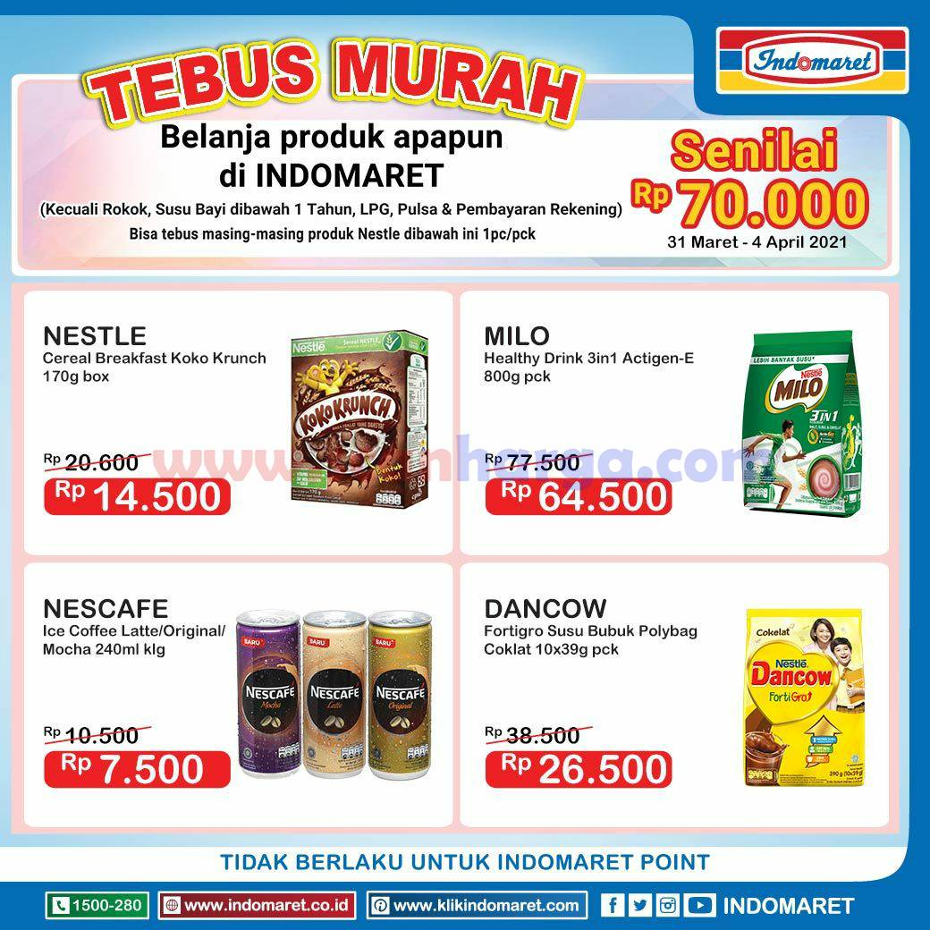 INDOMARET Promo TEBUS MURAH 31 Maret - 4 April 2021