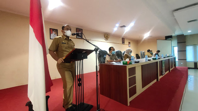 Wakil Bupati Inhu Pimpin Rapat Teknis Pelaksanaan APBD 2021 dan RKPD 2022