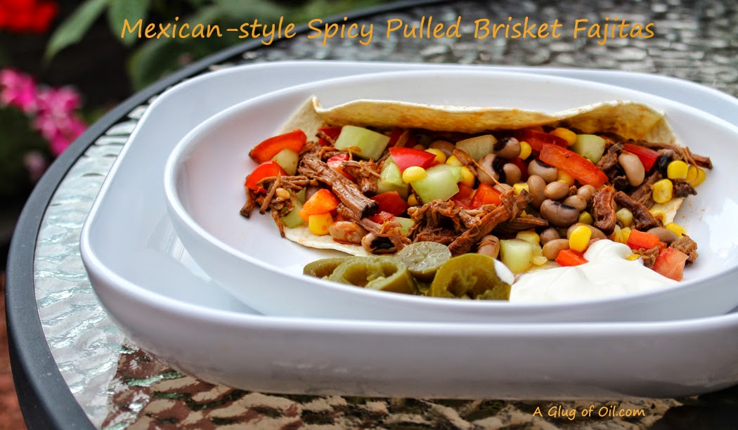 Spicy Pulled Brisket Fajitas