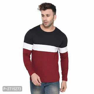 Colourblocked Cotton Men's T-Shirt