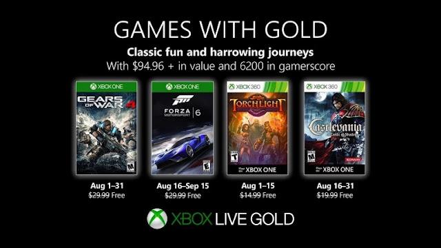مايكروسوفت تعلن عن الألعاب المجانية لمشتركي خدمة Xbox Live خلال شهر أغسطس و عناوين قوية جداً