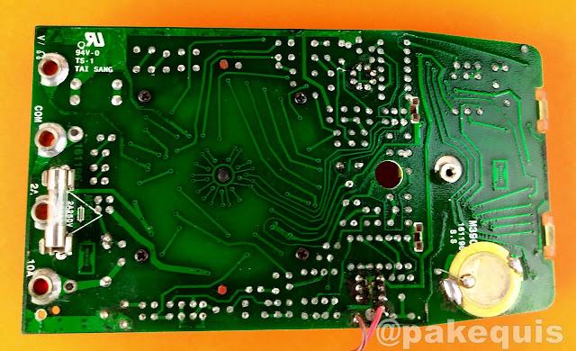 Placa do Multímetro Minipa ET-1501 lado da solda