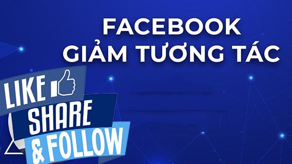 giam tuong tac facebook
