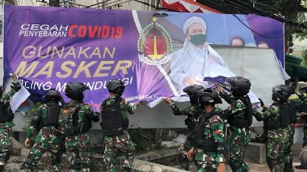 Perintah Pangdam Jaya Copot Baliho Habib Rizieq Tuai Pro Kontra