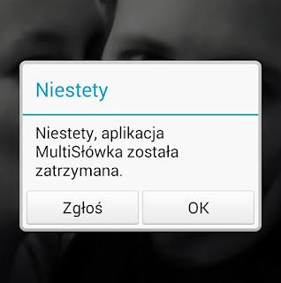 błąd aplikacji