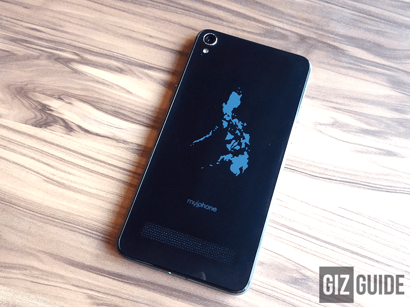 Philippine Map at the back of the phone