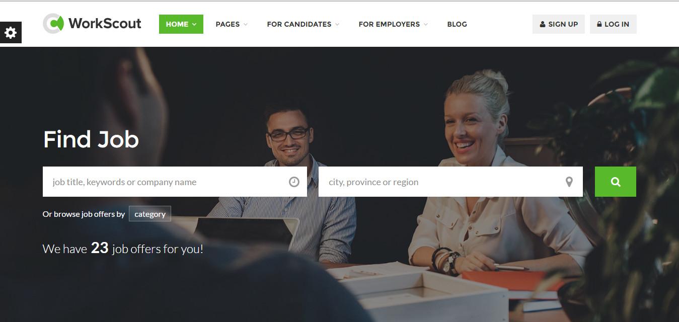 WorkScrout premium wordpress job board themes