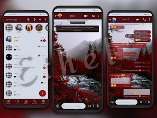 Red Forest Theme For YOWhatsApp & Fouad WhatsApp By Ethel