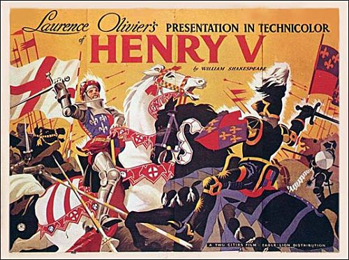 Original poster for Henry V (1944), landscape format