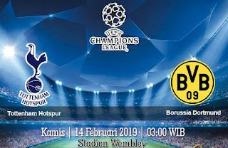 Prediksi Tottenham Hotspur vs Borussia Dortmund 14 Februari 2019