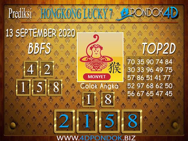 Prediksi Togel HONGKONG LUCKY 7 PONDOK4D 13 SEPTEMBER 2020