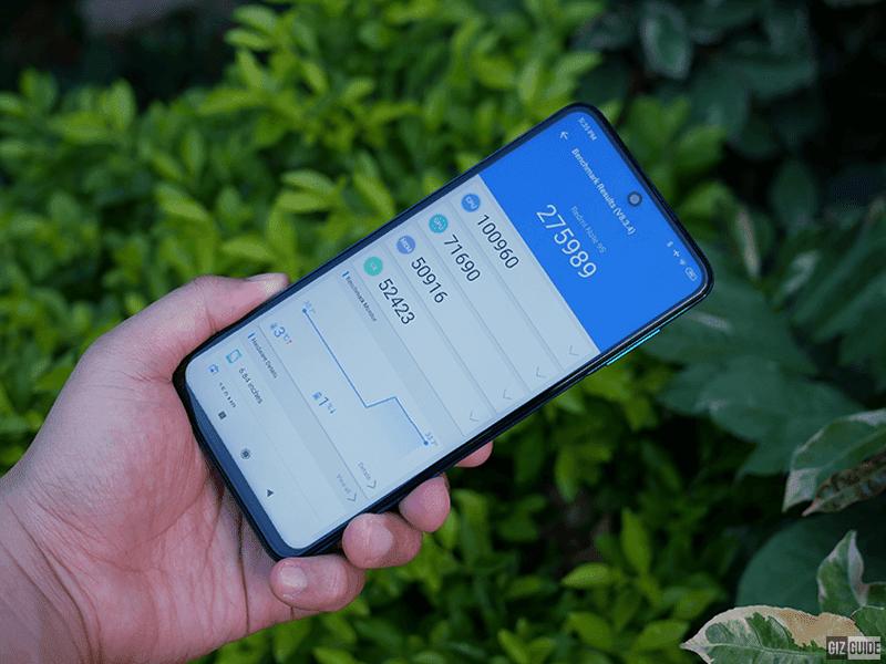 AnTuTu benchmark score of Redmi Note 9S
