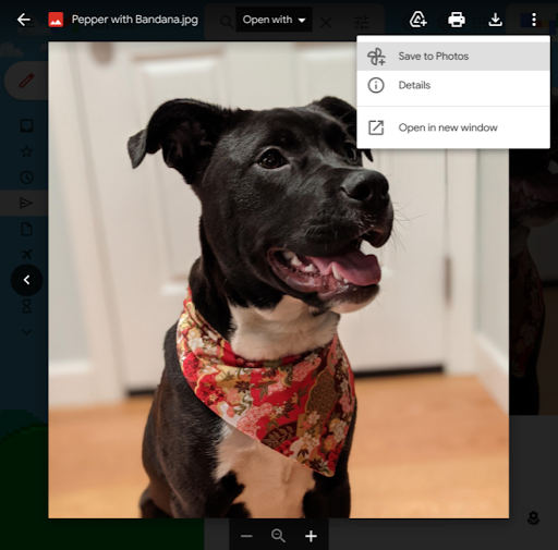Save photos from Gmail messages directly to Google Photos 1
