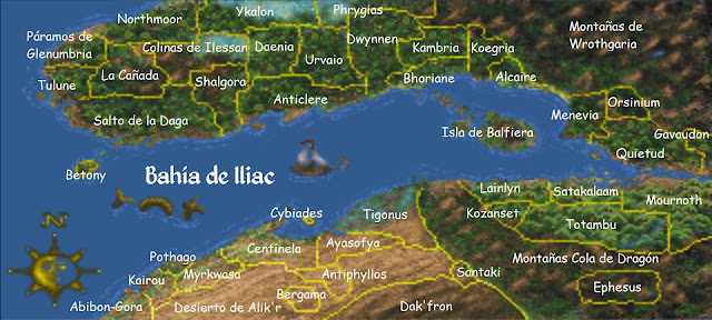 Mapa The Elder Scrolls II Daggerfall