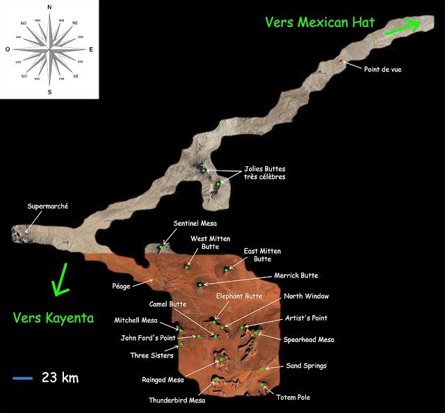 Plan de Monument Valley