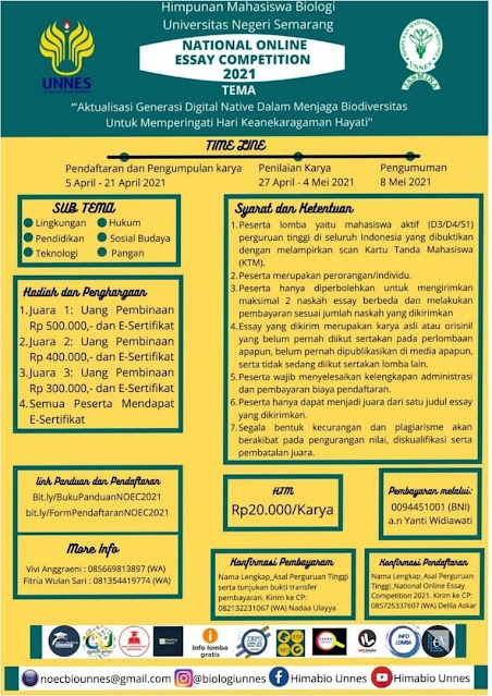NATIONAL ONLINE ESSAY COMPETITION 2021