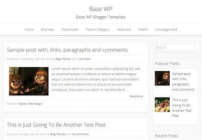 Base WP Blogspot Template