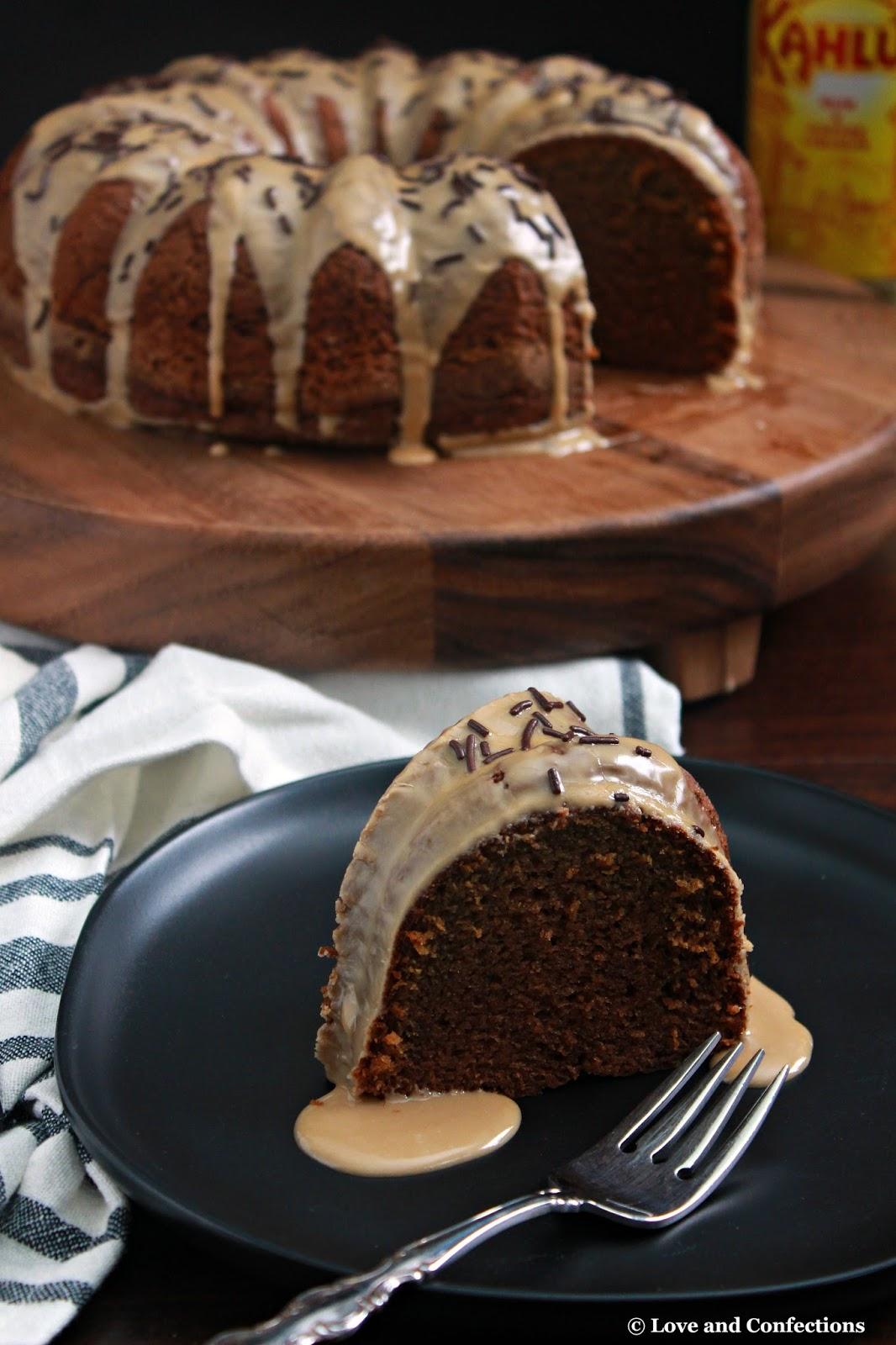 Kahlua Vodka Chocolate Bundt Cake