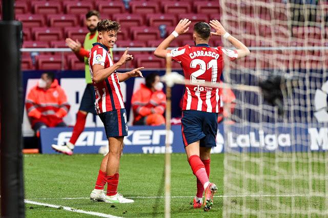 Atletico Madrid duo Llorent and carrasco