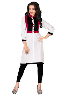 white and maroon Kurti