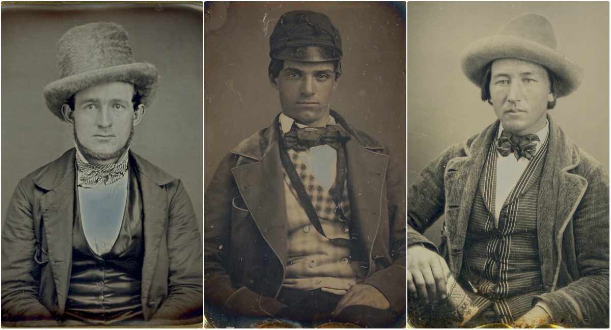 Cool Photos Show Hat Styles For Men in the Mid-19th Century
