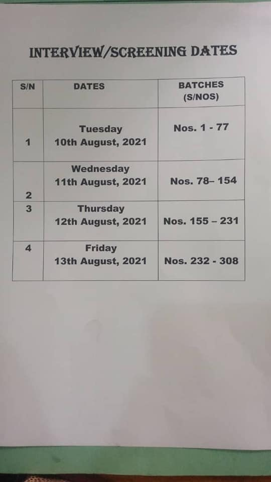 SON St. Gerard's Catholic Hospital Entrance Exam Result 2021/222