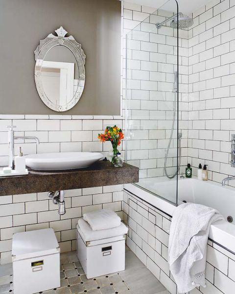 6 ideas de baños que mezclan lo moderno con lo clásico.