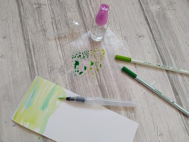 Tuto Scrapbooking Carte printanière à l'aquarelle