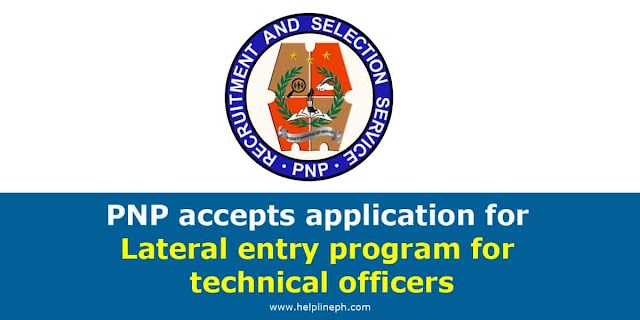 PNP accepts application for Lateral entry program for technical officers