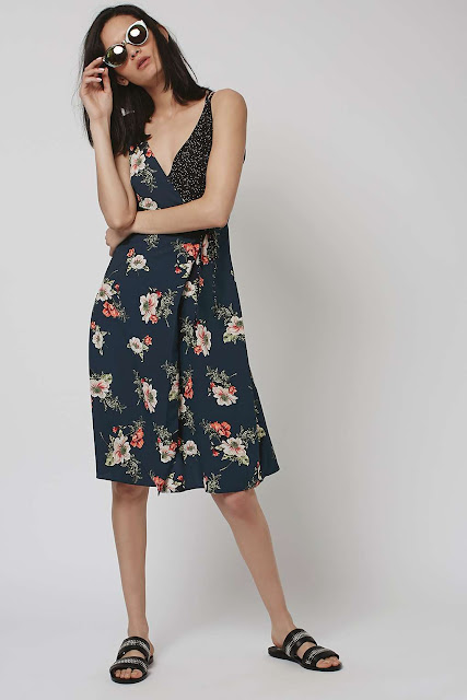 black floral summer dress,