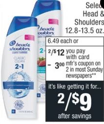 Head & Shoulders Shampoo/Conditioner