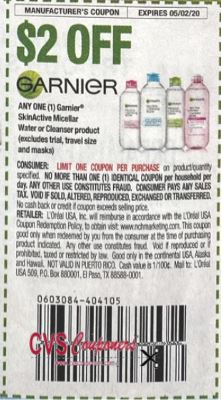 $2.00/1 Garnier Skinactive Cleanser Product Coupon