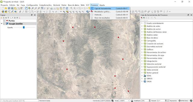 Convertir lineas a partir de puntos con GRASS