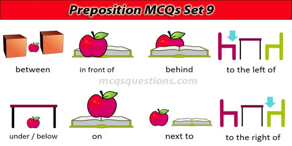 English Preposition MCQ With Answers Set 9
