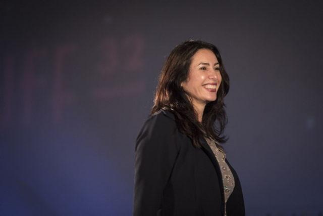 Ministra de Cultura y Deporte Miri Regev en la apertura del Festival de Cine de Jerusalém