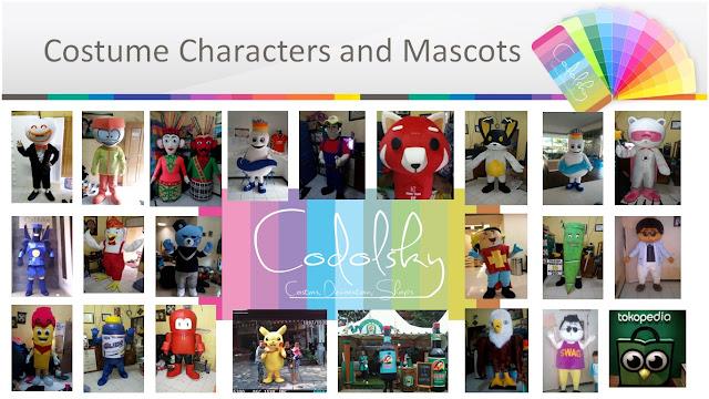 Kostum maskot boneka Patung besar untuk pajangan promosi sebagai penarik perhatian, dan baju badut karakter kartun tv terkenal
