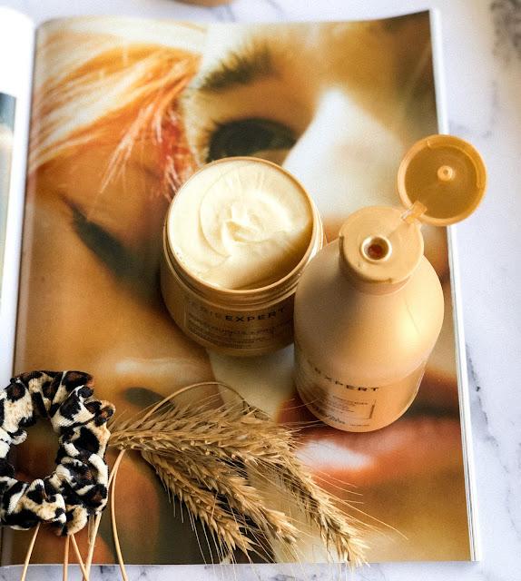 шампунь и маска с киноа и протеинами лореаль