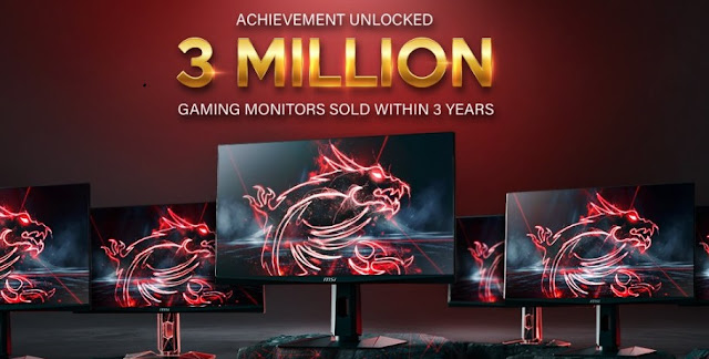 MSI achieves milestone of selling 3 Million units of Gaming Monitor