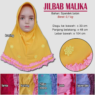Jilbab anak terbaru lucu dan imut - malika