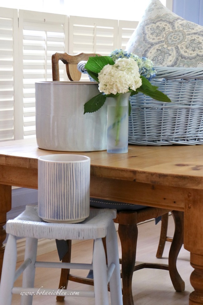 French Country style in shades of pale blue