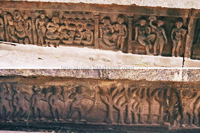 Ramayana Panels - Yagna - Pregnancy of Dasaratha wives - Rama's arrow through 7 oak trees