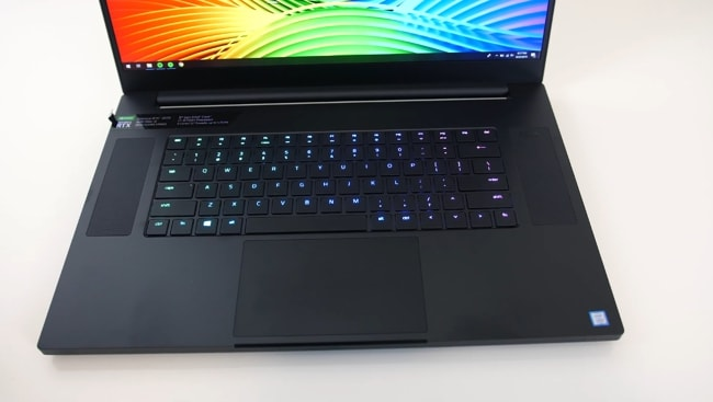The keyboard of Razer Blade Pro 17 gaming laptop is well-placed in the center of the base. And, there is some more space than average on the sides of the keyboard.