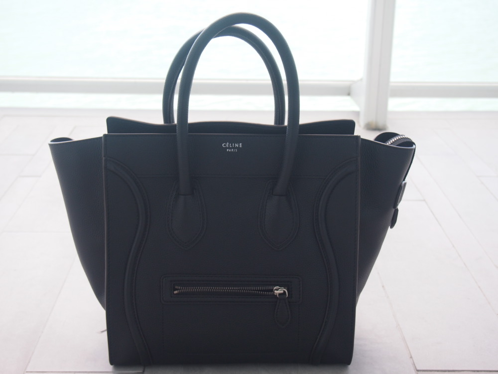 CELINE Mini Luggage Tote With Silver Hardware – JAYS✞RUT cc0f187b5f9bc