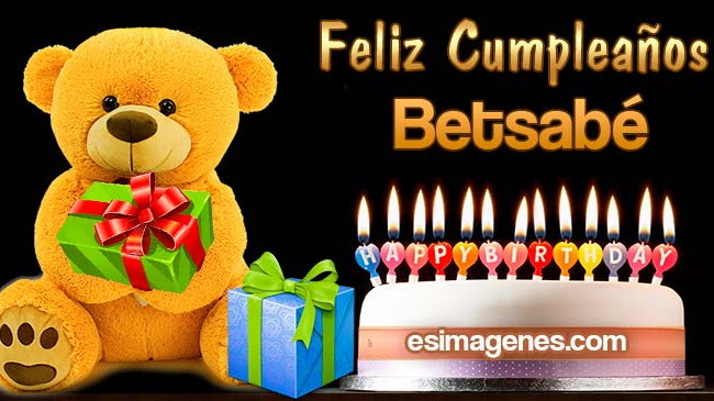 Feliz Cumpleaños Betsabé