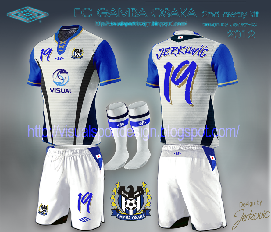 J League Football Shirts: Visual Football Fantasy Kit Design: FC GAMBA OSAKA UMBRO