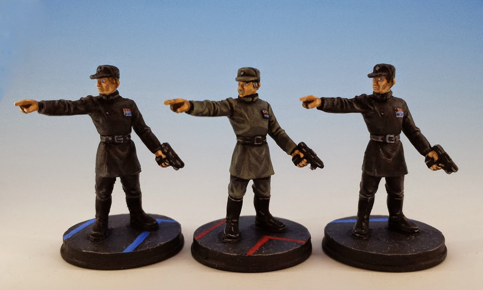 Imperial Officers, Fantasy Flight Games (2014, sculpted by Benjamin Maillet, painted by M. Sullivan)