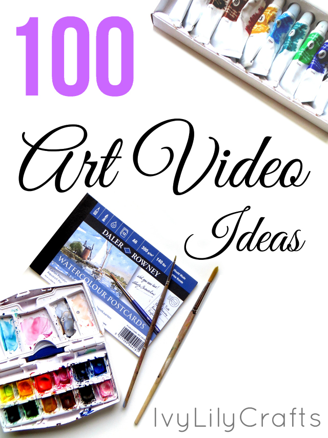 Having trouble coming up with ideas for art projects, art blog posts or art YouTube channel videos? I've listed 100 art video title or topic ideas for YouTube in this post. A lot of them work for blog posts, too. Some of them you can use as ideas for you art projects that you don't even post online.