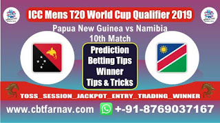 ICC T20 Qualifier Nam vs Png 10th T20 Today Match Prediction T20 World Cup Qualifier