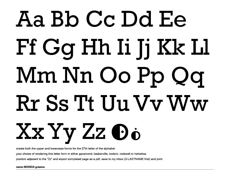 Gallery 91 Inc.: 27th letter of the alphabet